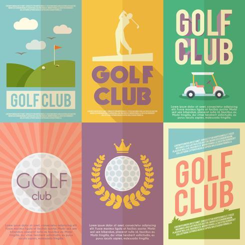 Set de pósteres de golf vector