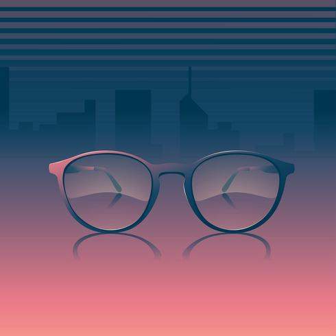 Eye Glasses Realistisk Modell