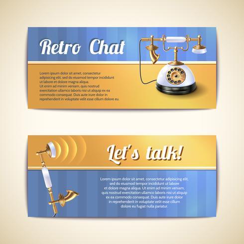 Banners horizontales de teléfonos antiguos.