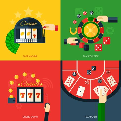 icône de casino plat vecteur