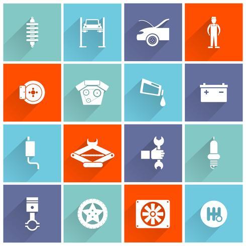 ícone plana de auto serviço vetor