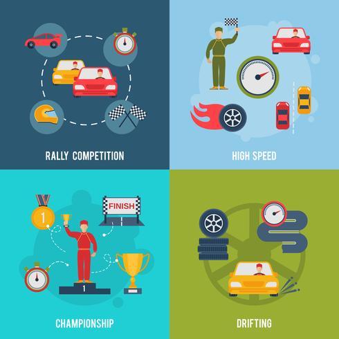auto sport plat vecteur
