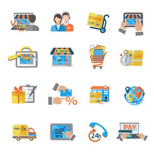 E-Commerce-Symbol für den Einkauf