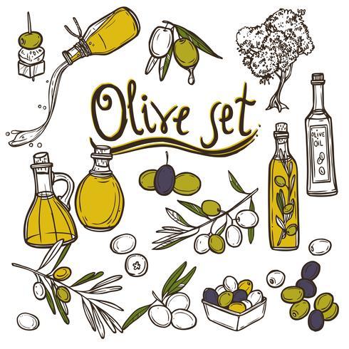 Oliven-Icons gesetzt