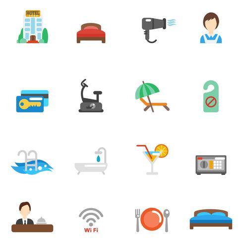 Hotel Flat Icon Set