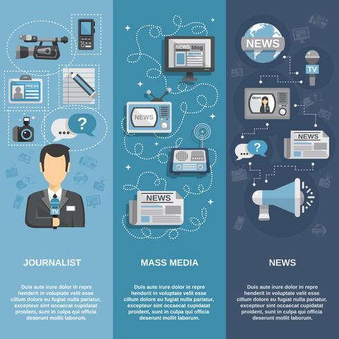 Ensemble de bannières pour journalistes