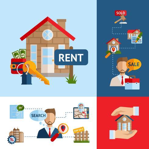 Conjunto de concepto de bienes raíces