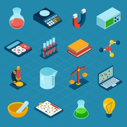 Icone di scienza isometrica