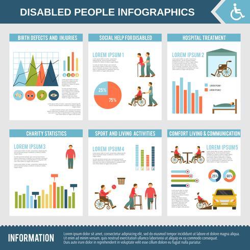 Disabled Infographics Set