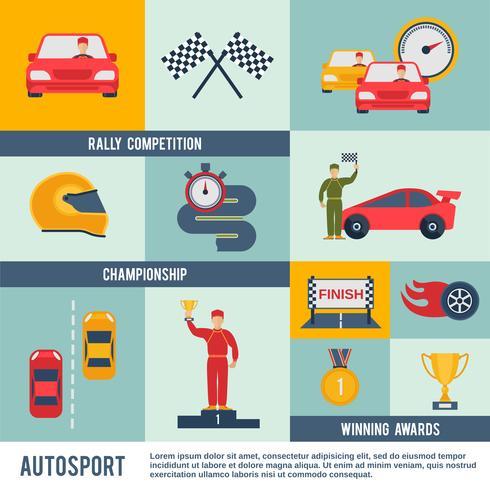 ícone de auto esporte plano