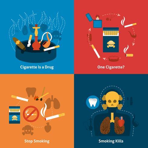 Rökning platt uppsättning
