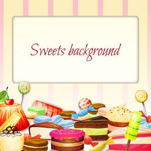 Fundo de comida de doces vetor
