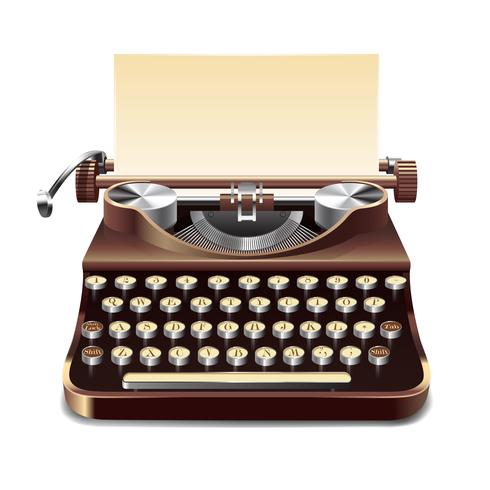 Máquina de escribir Ilustración realista