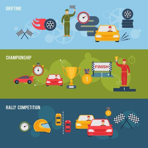 auto sport banner vektor