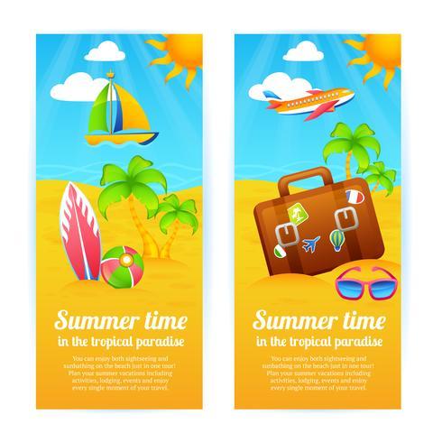 Banners de férias de verão