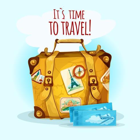 Concept de voyage avec valise