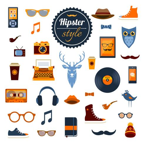 Hipster Elements Set vector
