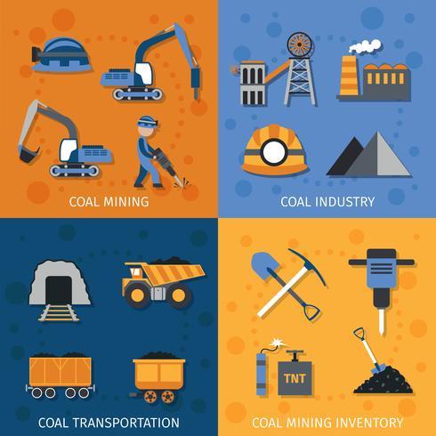Industrie du charbon vecteur