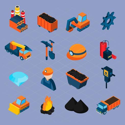 Conjunto isométrico de indústria de carvão