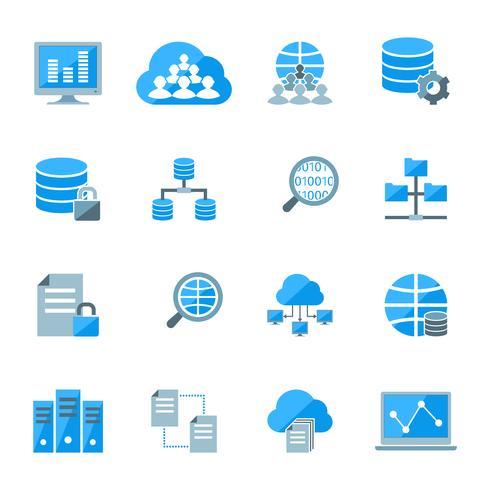 Ícones de big data