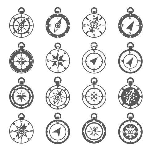 Conjunto de iconos de brújula vector