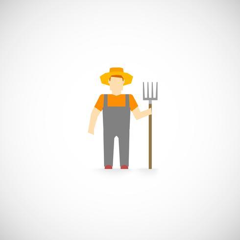 Icono de personaje de granjero vector