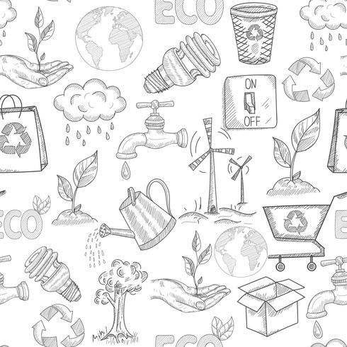doodle ecología sin costura