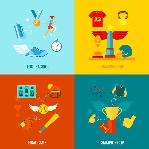 Championship Icons Flat