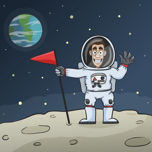 Astronaute sur lune