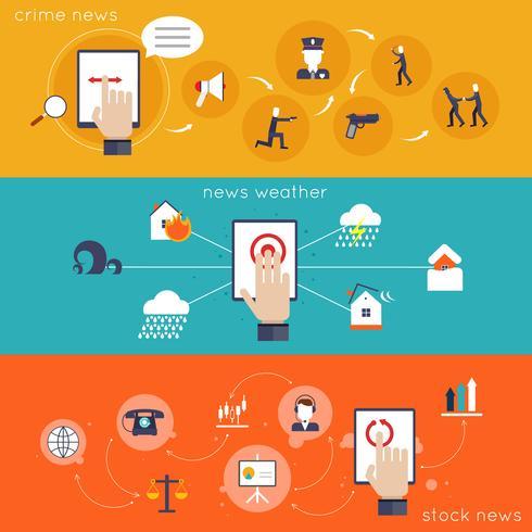 icône plate de nouvelles applications mobiles