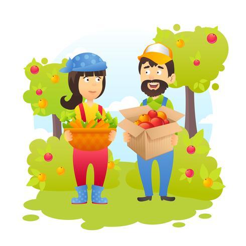 Farmers In Garden