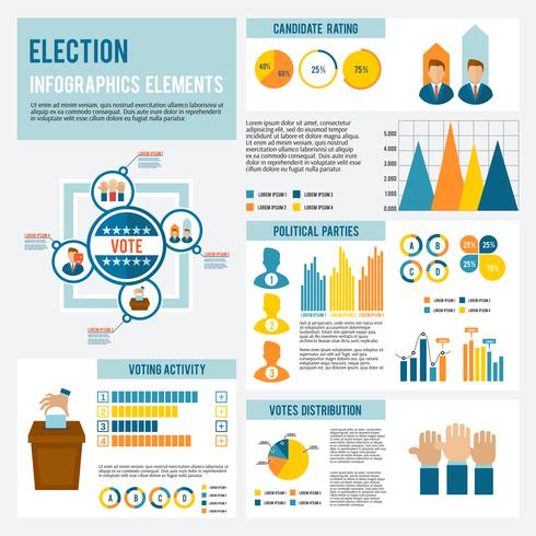 Election Icon Infographic vector