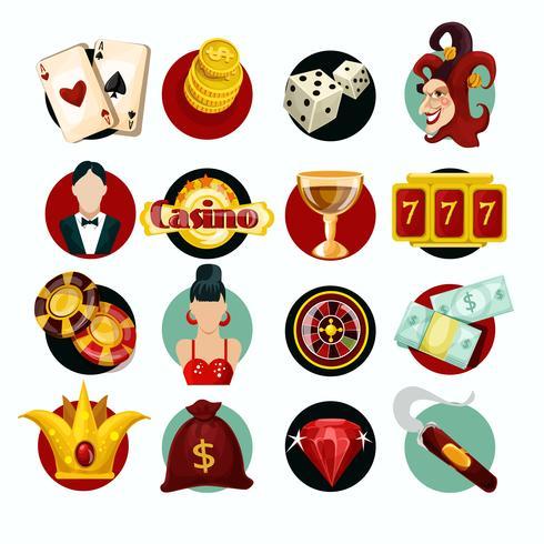 Set di icone del casinò vettore
