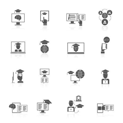 Online onderwijs pictogrammen
