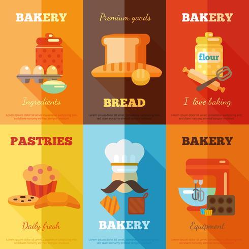 Bäckerei-Mini-Poster-Set