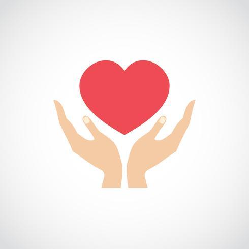 Mão segure proteja o coração