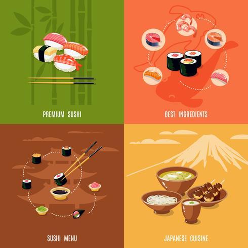 Conceito de Design de comida asiática