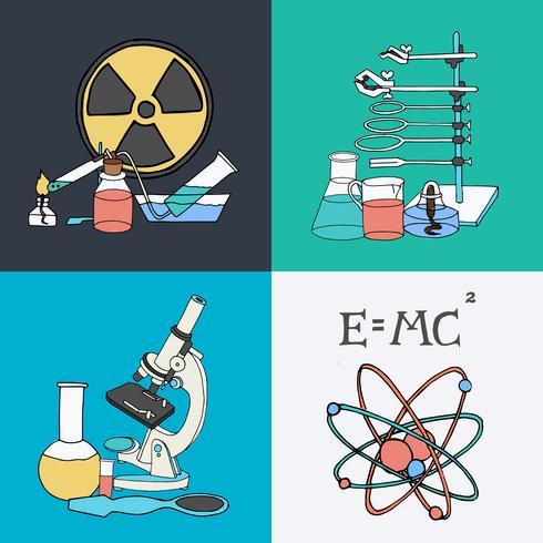Wetenschap schets iconen