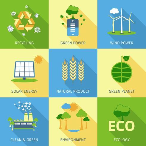Ecology Concept Set vector