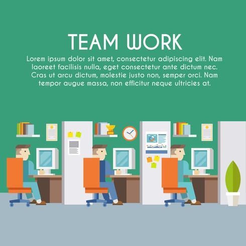 Empresario trabajando cartel vector