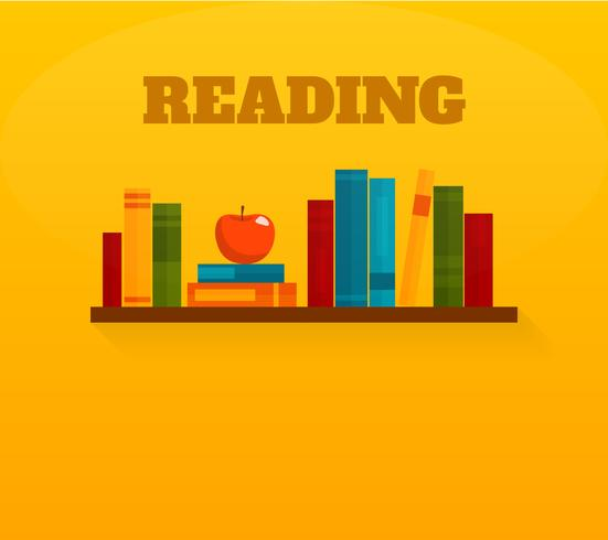 Lendo o ícone plana de livros