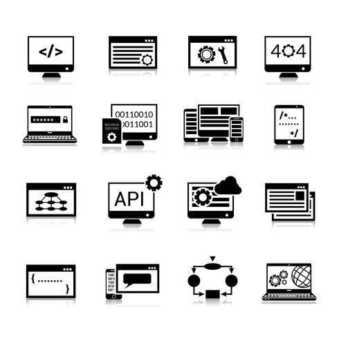 Pictogrammen programmeren Zwart