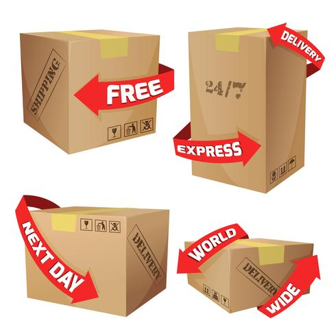 Boxes With Delivery Symbols