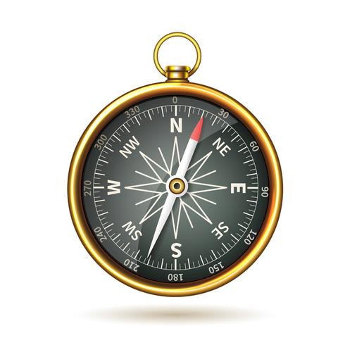 Compass Realistic Isolated