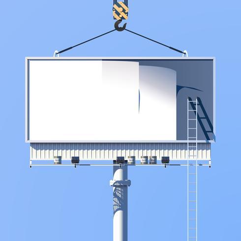 Construction Billboard Poster vector