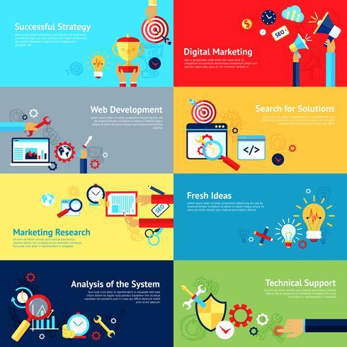 Conjunto de concepto de diseño de Internet vector