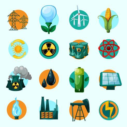 Jeu d'icônes d'énergie vecteur