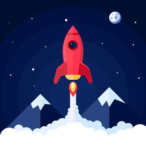 Cartaz do foguete de espaço