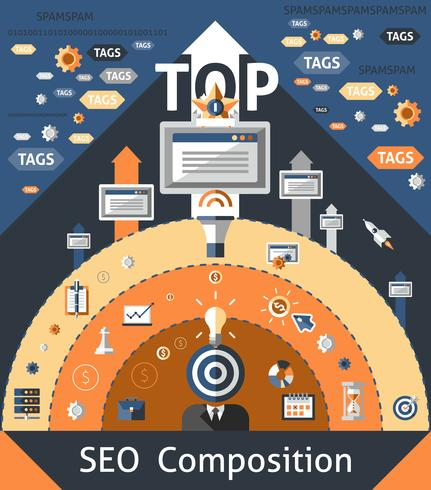 Seo Composition Illustration vector