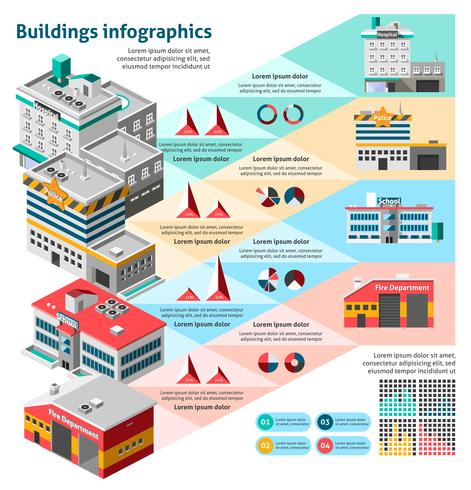 Gebouwen Infographics Set